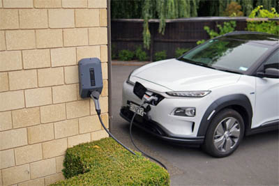 This picture shows an EV Charger installation Pasadena CA